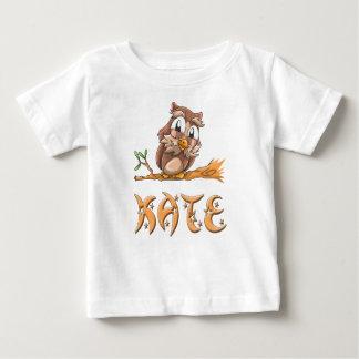 Camiseta Para Bebê T-shirt do bebê da coruja de Kate