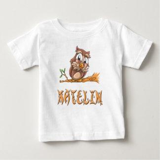 Camiseta Para Bebê T-shirt do bebê da coruja de Katelin