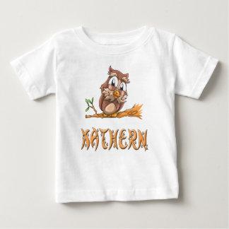 Camiseta Para Bebê T-shirt do bebê da coruja de Kathern