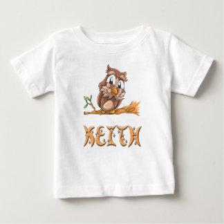 Camiseta Para Bebê T-shirt do bebê da coruja de Keith