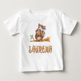 Camiseta Para Bebê T-shirt do bebê da coruja de Laurena