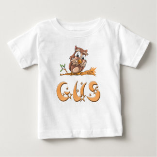 Camiseta Para Bebê T-shirt do bebê da coruja do GUS