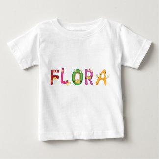 Camiseta Para Bebê T-shirt do bebê da flora