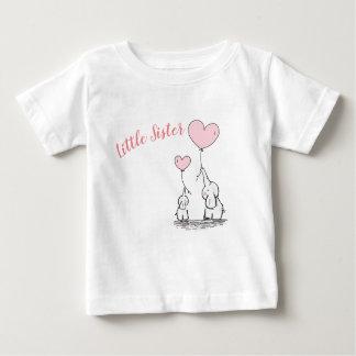 Camiseta Para Bebê T-shirt do bebê da irmã mais nova