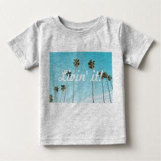 Camiseta Para Bebê T-shirt do bebê da palmeira