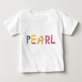 Camiseta Para Bebê T-shirt do bebê da pérola