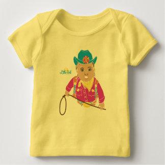 Camiseta Para Bebê T-shirt do bebê da vaqueira (hispânico)