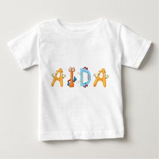 Camiseta Para Bebê T-shirt do bebê de Aida
