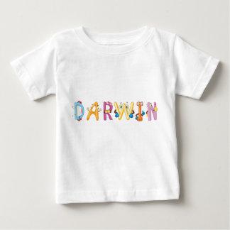 Camiseta Para Bebê T-shirt do bebê de Darwin