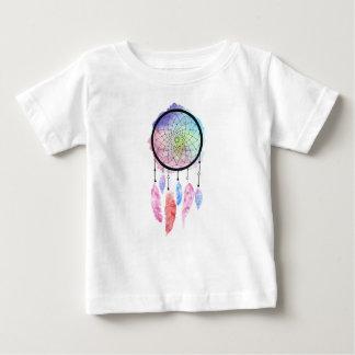 Camiseta Para Bebê T-shirt do bebê de Dreamcatcher da aguarela