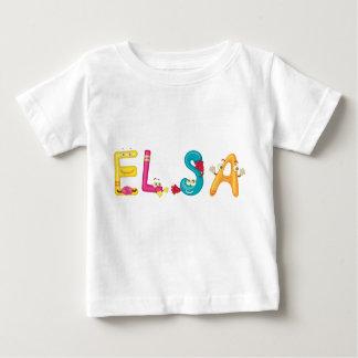 Camiseta Para Bebê T-shirt do bebê de Elsa