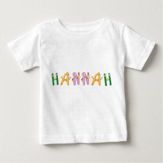 Camiseta Para Bebê T-shirt do bebê de Hannah