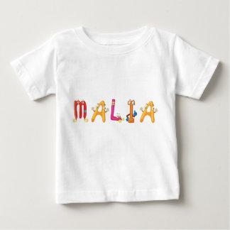 Camiseta Para Bebê T-shirt do bebê de Malia