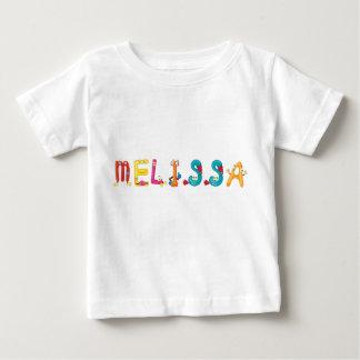 Camiseta Para Bebê T-shirt do bebê de Melissa