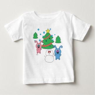 Camiseta Para Bebê T-shirt do bebê de Rollys do tempo de inverno