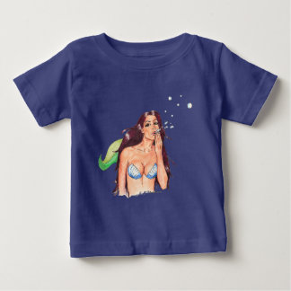 Camiseta Para Bebê T-shirt do bebê de Sirena da sereia