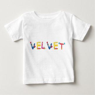 Camiseta Para Bebê T-shirt do bebê de veludo