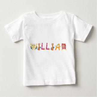Camiseta Para Bebê T-shirt do bebê de William