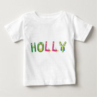 Camiseta Para Bebê T-shirt do bebê do azevinho