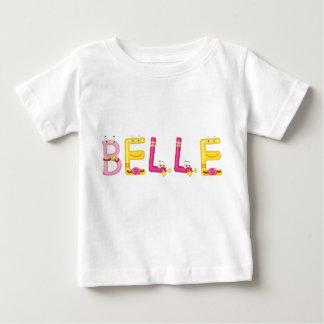 Camiseta Para Bebê T-shirt do bebê do Belle