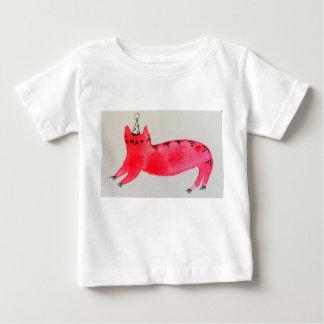 Camiseta Para Bebê T-shirt do bebê do gato do partido