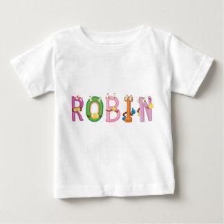 Camiseta Para Bebê T-shirt do bebê do pisco de peito vermelho