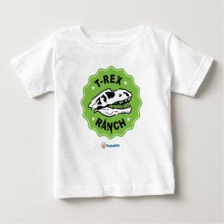 Camiseta Para Bebê T-shirt do bebê do rancho de T-Rex com dinossauro