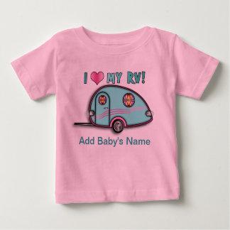 Camiseta Para Bebê T-SHIRT do BEBÊ do reboque da gota rv do rasgo