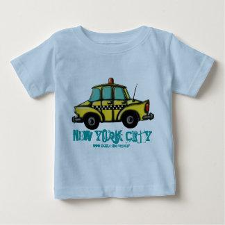 Camiseta Para Bebê T-shirt do bebê do táxi do verificador de NYC