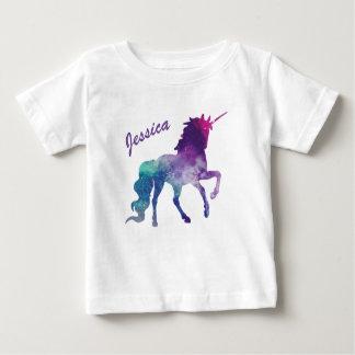 Camiseta Para Bebê T-shirt do bebê do unicórnio
