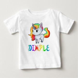 Camiseta Para Bebê T-shirt do bebê do unicórnio da ondulação