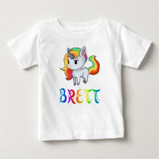 Camiseta Para Bebê T-shirt do bebê do unicórnio de Brett