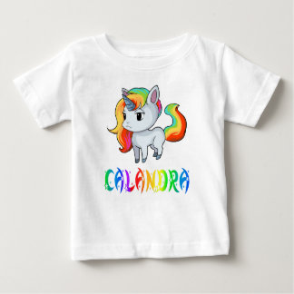 Camiseta Para Bebê T-shirt do bebê do unicórnio de Calandra