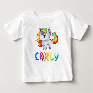 Camiseta Para Bebê T-shirt do bebê do unicórnio de Carly