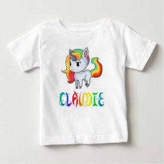 Camiseta Para Bebê T-shirt do bebê do unicórnio de Claudie