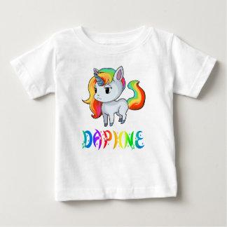 Camiseta Para Bebê T-shirt do bebê do unicórnio de Daphne
