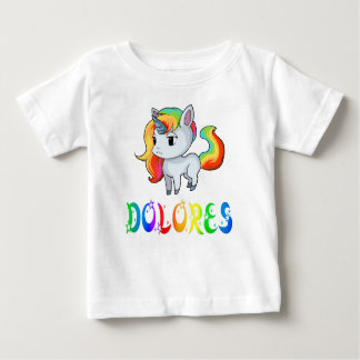 Camiseta Para Bebê T-shirt do bebê do unicórnio de Dolores