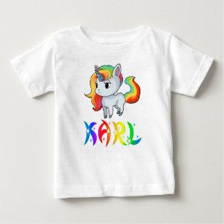 Camiseta Para Bebê T-shirt do bebê do unicórnio de Karl