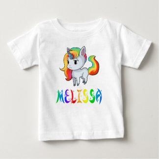 Camiseta Para Bebê T-shirt do bebê do unicórnio de Melissa