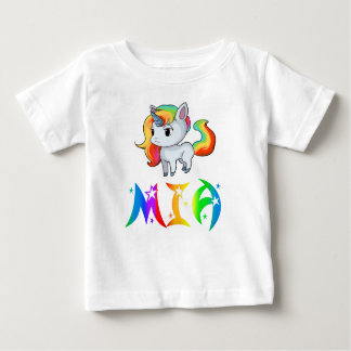 Camiseta Para Bebê T-shirt do bebê do unicórnio de Mia