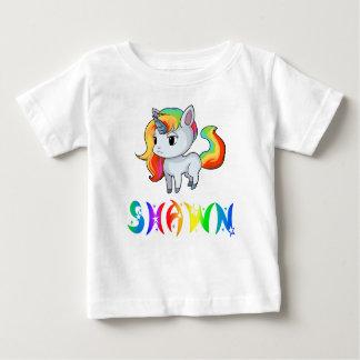 Camiseta Para Bebê T-shirt do bebê do unicórnio de Shawn