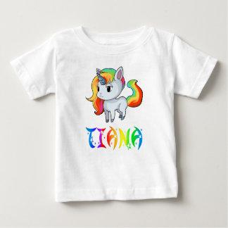 Camiseta Para Bebê T-shirt do bebê do unicórnio de Tiana