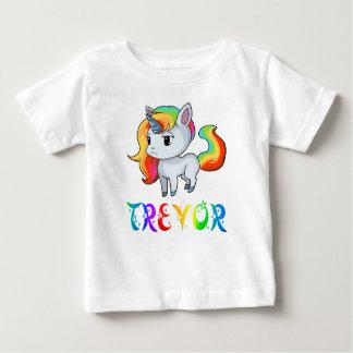 Camiseta Para Bebê T-shirt do bebê do unicórnio de Trevor