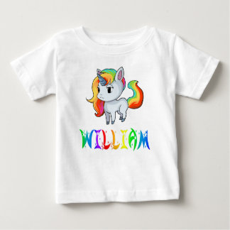 Camiseta Para Bebê T-shirt do bebê do unicórnio de William