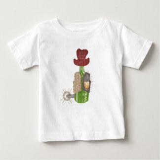 Camiseta Para Bebê T-shirt do bebê do vaqueiro da garrafa