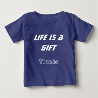 Camiseta Para Bebê T-shirt do bebê do verão - a vida é um logotipo do
