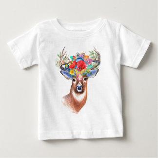Camiseta Para Bebê T-shirt do bebê dos cervos | de Boho