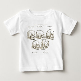 Camiseta Para Bebê T-shirt do bebê dos crânios do vintage