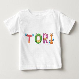 Camiseta Para Bebê T-shirt do bebê dos Tori