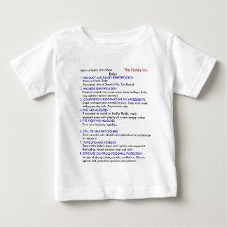 Camiseta Para Bebê T-shirt do bebê MSDS